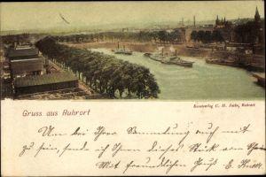 Ak Ruhrort Duisburg Nordrhein Westfalen, Stadt, Wasserpartie