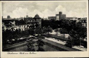 Ak Oberhausen im Ruhrgebiet, Blick zum Rathaus
