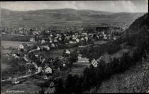 Ak Kudowa Zdrój Bad Kudowa Schlesien, Panorama vom Ort