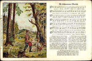 Lied Ak Vogel, Wilhelm, Lattermann, G., Dr Schwamma Marsch, Wanderer im Wald