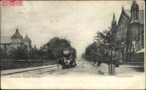 Ak Derby East Midlands England, London Road, Pferdestraßenbahn