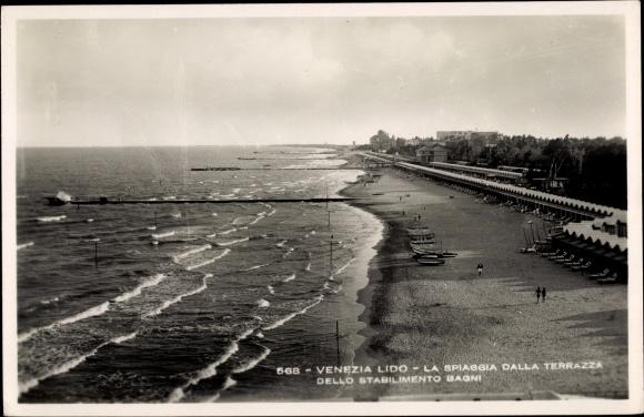 Ak Lido Veneto, La Spiaggia dalla Terrazza dello Stabilimento Bagni