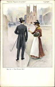Künstler Ak Familiar Figures of London, The Flower Girl