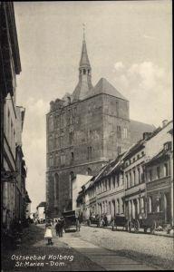 Ak Kołobrzeg Kolberg Pommern, St. Mariendom