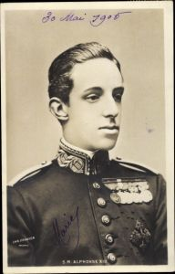Ak König Alfons XIII. von Spanien, Portrait
