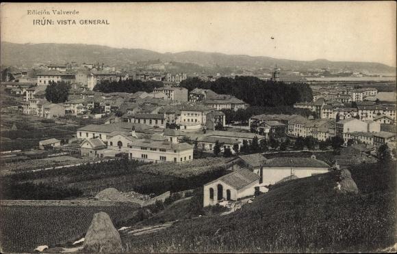 Ak Irún Irun Baskenland Spanien, Gesamtansicht