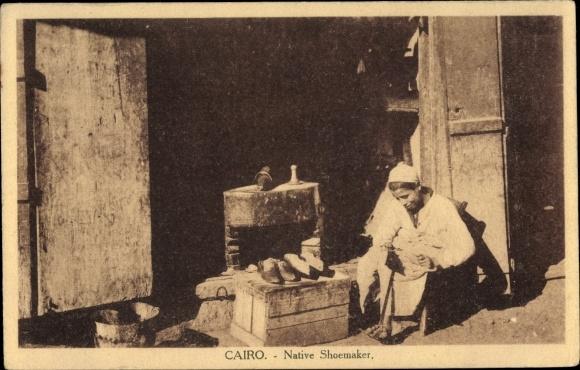 Ak Cairo Kairo Ägypten, Native Shoemaker