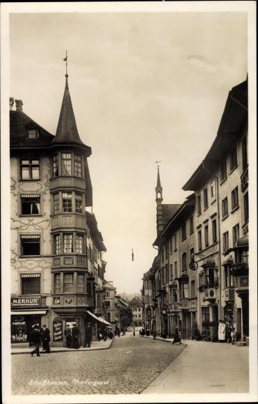 Ak Schaffhausen Stadt Schweiz, Vordergasse