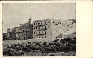 Ak Betlehem Palästina, Convento, Scuola, Casa Nova dei PP. Francescani