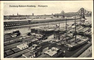 Ak Ruhrort Duisburg Nordrhein Westfalen, Rheinpartie