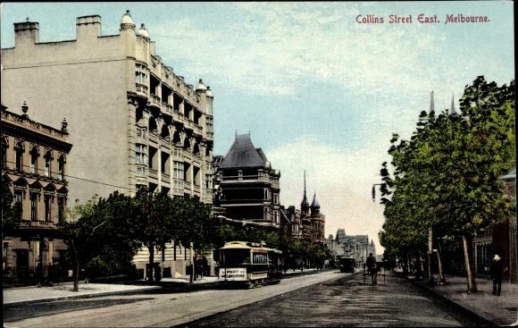 Ak Melbourne Australien, Collins Street East