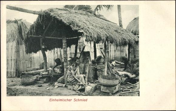 Ak Deutsch Westafrika Togo, Einheimischer Schmied