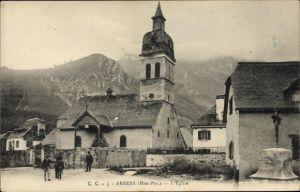 Ak Arrens Marsous Hautes Pyrénées, L'Église