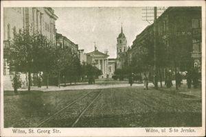 Ak Vilnius Wilna Litauen, Partie auf der Sankt Georg Straße