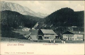 Ak Klais Krün Oberbayern, Blick auf das Wetterstein Gasthaus, Stadtansicht