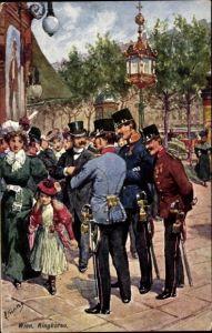 Künstler Ak Feiertag, Karl, Wien, Ringkorso, Kuk Soldaten, BKWI 631-4