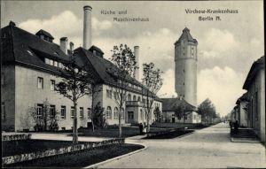 Ak Berlin Wedding, Virchow Krankenhaus, Küche und Maschinenhaus, Wasserturm
