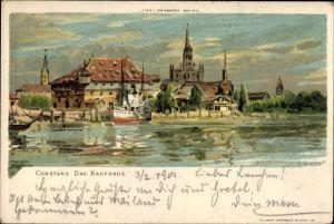Künstler Litho Biese, C., Konstanz am Bodensee, Das Kaufhaus