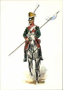 Künstler Ak Bayern um 1813, Ulanen Regiment, Ulan