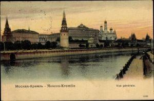 Ak Moskau Russland, Kremlin, vue générale, Kreml