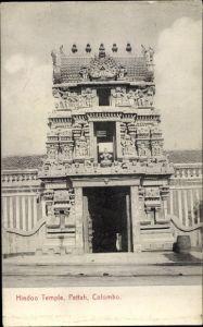 Ak Colombo Ceylon Sri Lanka, Hindoo Temple, Petta, Tempel