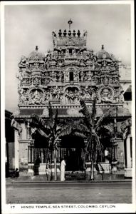 Ak Colombo Ceylon Sri Lanka, Hindu Temple, Sea Street, Tempel