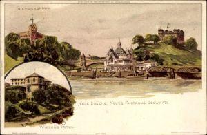 Künstler Litho Biese, C., Hamburg Mitte St. Pauli, Neue Brücke, Neues Fährhaus, Seewarte