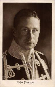 Ak Kronprinz Wilhelm von Preußen, Husarenuniform, Portrait, NPG 4901