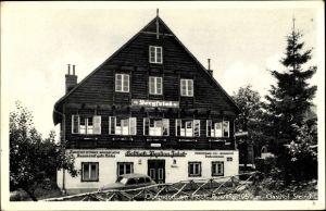 Ak Oberndorf am Hoch Jauerling Oberösterreich, Gasthof Steindl, Bergfried, Jedek