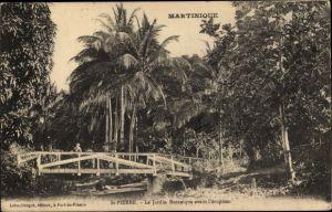 Ak Saint Pierre Martinique, Le Jardin Botanique avant l'eruption