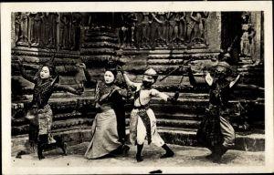 Ak Kambodscha, Angkor Wat, Danseuses Cambodgiennnes, danse