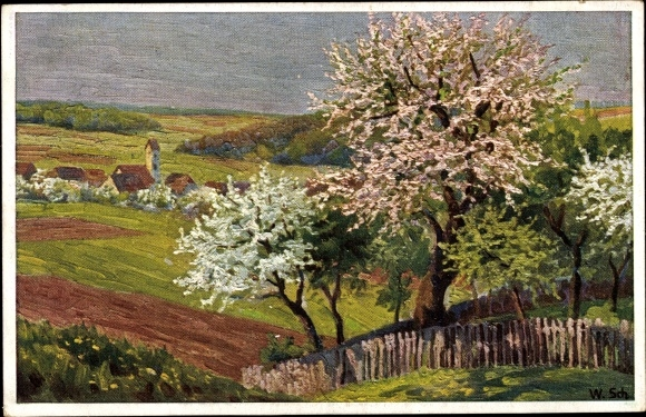 Künstler Ak Schacht, Wilh., Frühling