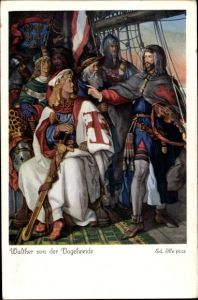 Künstler Ak Ille, Ed., Walther von der Vogelweide, Herzog Friedrich