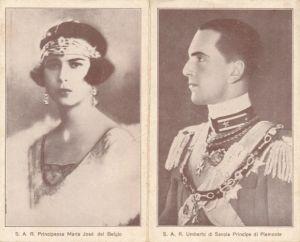 Klapp Ak Umberto di Savoia, Principle di Piemonte, Principessa Maria José del Belgio