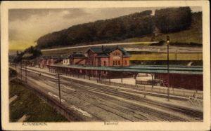 Ak Altenbeken NRW, Ansicht vom Bahnhof, Gleisseite