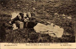 Ak Basutoland Lesotho, Sommeil des Missionnaires, Oblats de Marie Immaculée, Missionare bei der Rast