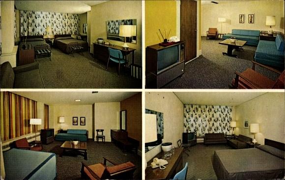 Ak Kansas City Missouri USA, Hotel Dixon, Innenansichten der Zimmer, Fernseher