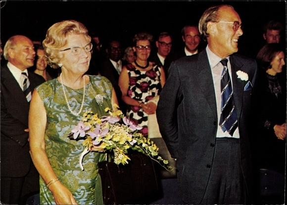 Ak Königin Juliana der Niederlande und Prinz Bernhard, 25 jähriges Thronjubiläum 1973