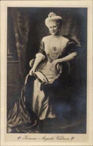 Ak Kaiserin Auguste Viktoria, Portrait, Pelzmantel, Diadem, NPG 4542