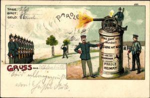 Litho Reservisten, Artillerie, Parole Heimat, Kanone