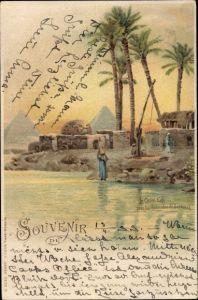 Künstler Litho Cairo Kairo Ägypten, pres les Pyramides de Sakkarah