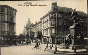 Ak Duisburg im Ruhrgebiet, Blick in die Düsseldorfer Straße