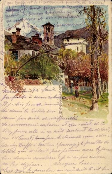 Künstler Litho Wielandt, Manuel, Pallanza Lago Maggiore Piemonte, Ortschaft