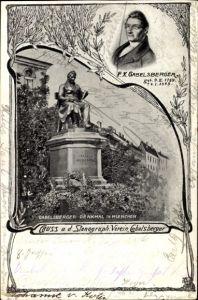 Ak München Bayern, Stenographischer Verein, Denkmal F. X. Gabelsberger