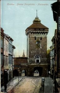 Ak Kraków Krakau Polen, Brama Florianska, Florianer Tor