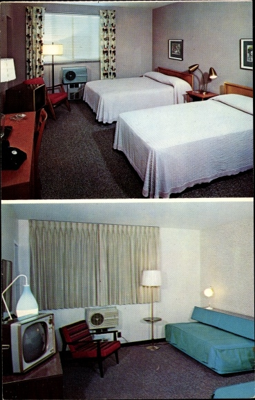 Ak Cuyahoga Falls Ohio USA, Town and Country Motor Hotel