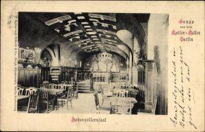 Ak Berlin Mitte, Innenansicht vom Hohenzollernsaal im Kaiserkeller