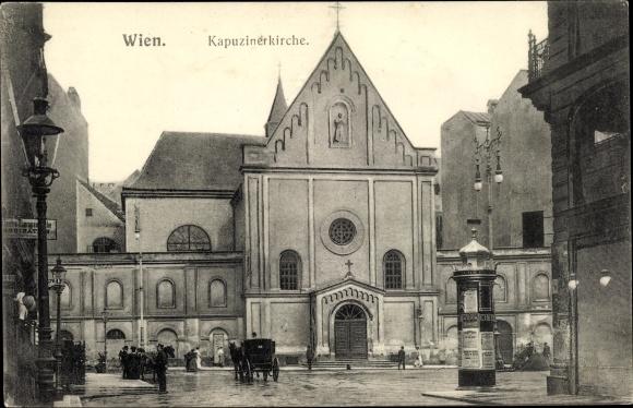Ak Wien, Kapuzinerkirche