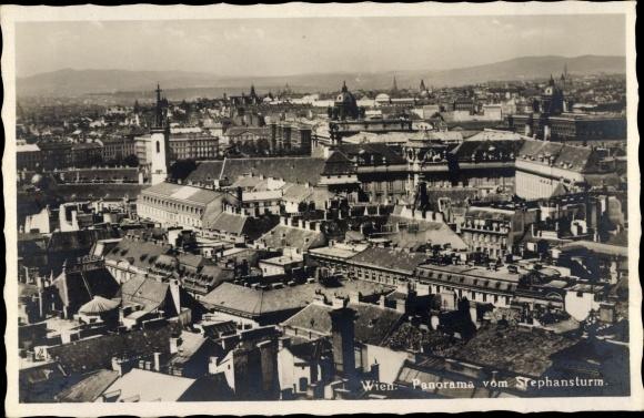 Ak Wien 1. Innere Stadt Österreich, Panorama vom Stephansturm