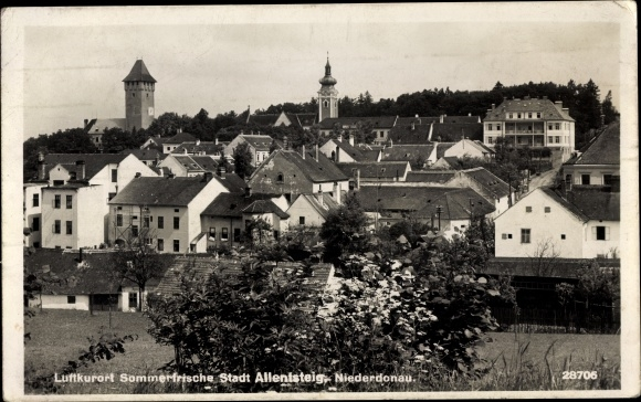 Ak Allentsteig in Niederösterreich, Panorama vom Ort